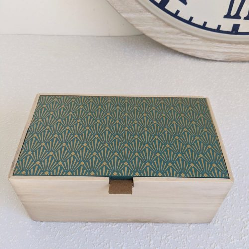 Green Timber Decorative Trinket Box
