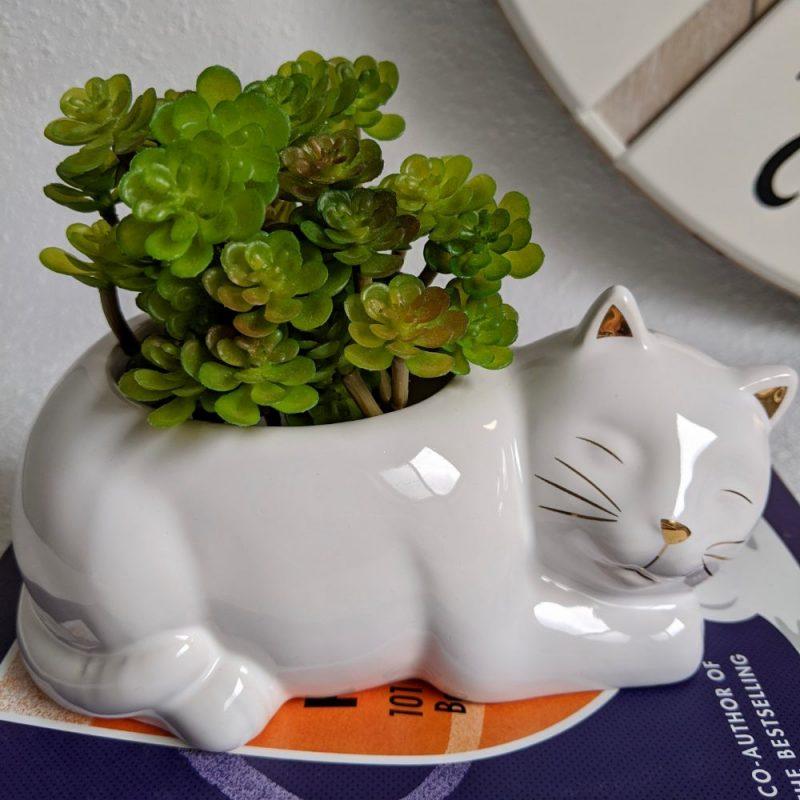 Sleeping Cat Ceramic Pot Planter