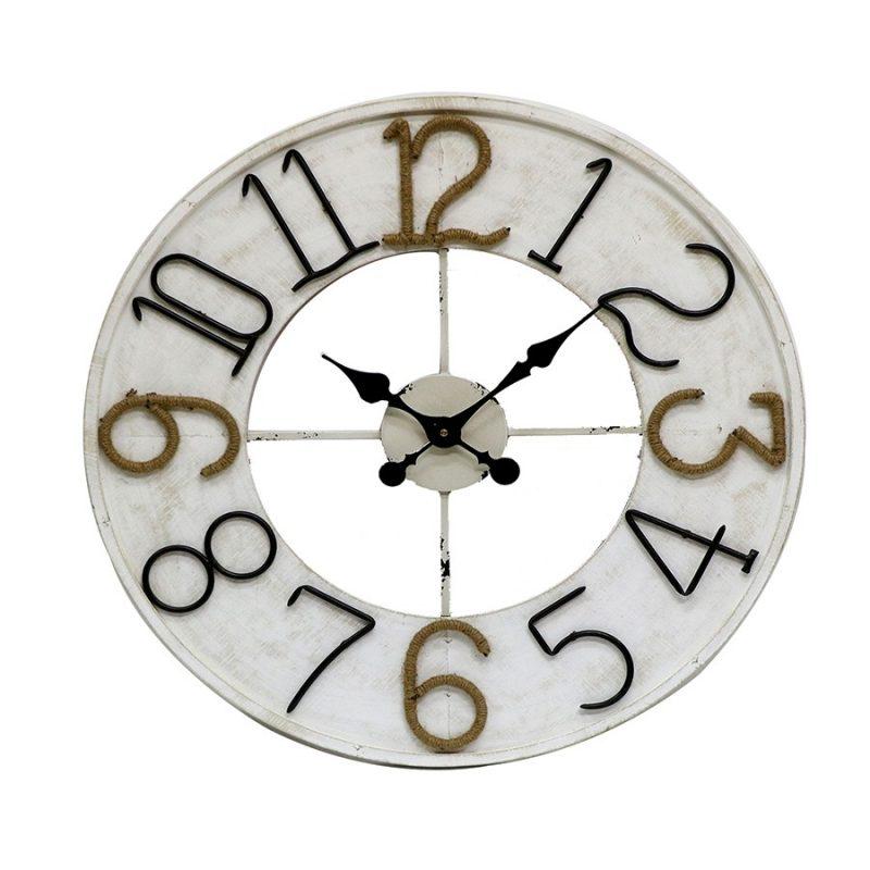 XL Extra Large Coastal White Wall Clock