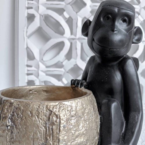 Black Monkey With Coconut Planter_a