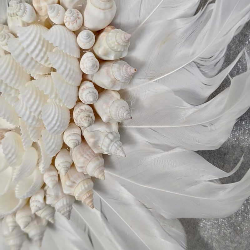 Coastal Seashell Heart Hanging Decor