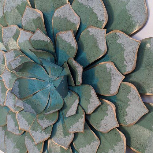 Green SUcculent Metal Wall Art