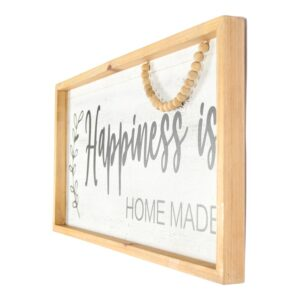 Happiness is Homemade Farmhouse Beaded Sign Wooden Wall Art