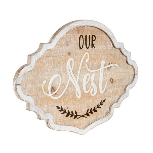 Our Nest Hanging Farmhouse Sign Wall Sculpture