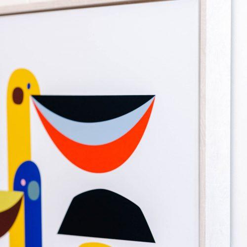 Pelican Bird Modern Framed Canvas Print Wall Art