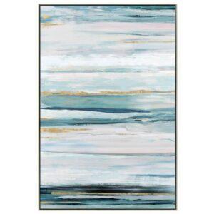 Abstract Blue Framed Canvas Print Wall Art
