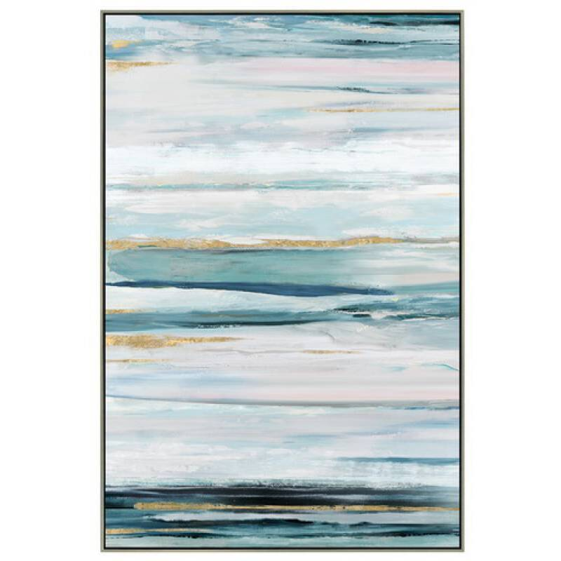 Abstract Blue Framed Canvas Print Wall Art