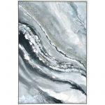 Abstract Water Framed Canvas Print Wall Art