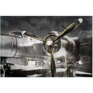 Aeroplane Propeller Framed Canvas Print Wall Art