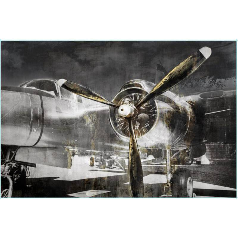 Aeroplane Propeller Framed Canvas Print Wall Art