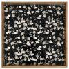 Black White Leaves Mango Wood Serving Tray