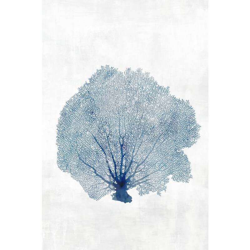 Blue Sea Coral Framed Canvas Print Wall Art