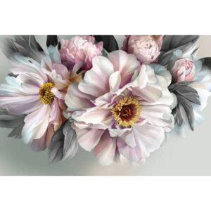 Bunch of Flowers Framed Canvas Print Wall Art