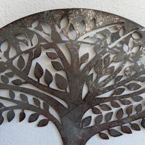 Galvanised Tree of Life Metal Wall Art