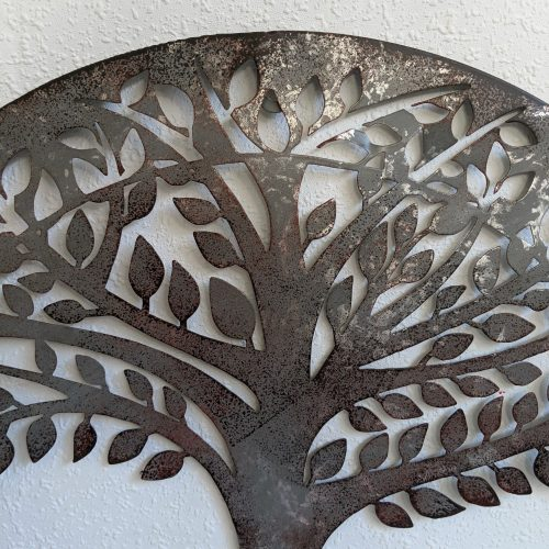 Galvanised Tree of Life Metal Wall Art