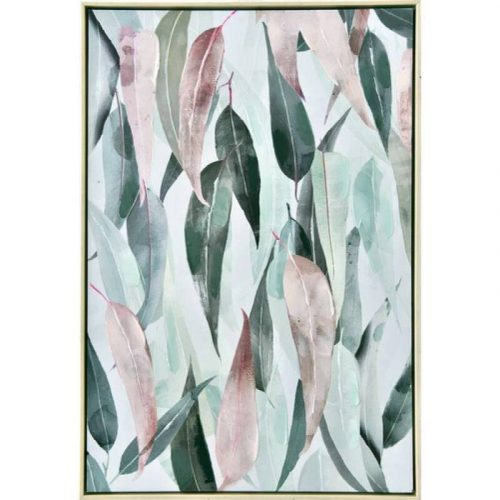 Gum Leaves Framed Canvas Print Wall Art