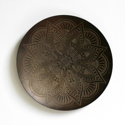 Midnight Tribal Pattern Metal Wall Art