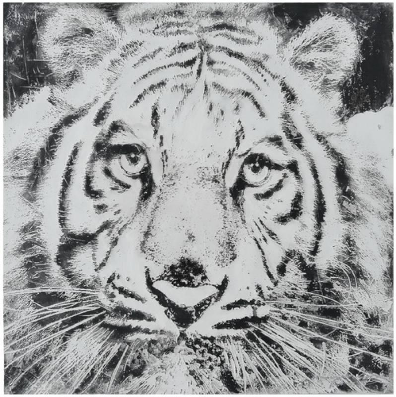 Monochrome Lion Framed Canvas Print Wall Art