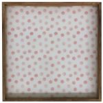 Pink Dots Laminated Mango Wood Tray