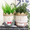 Prince Princess Face Concrete Pot Planter