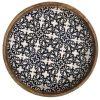 Round Black White Laminated Wooden Tray