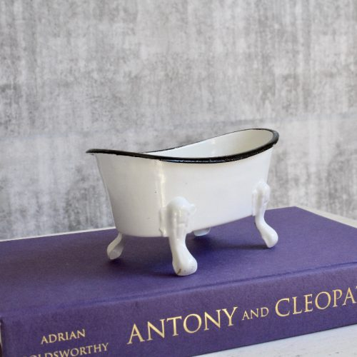 White Bathtub Metal Soap Dish Holder