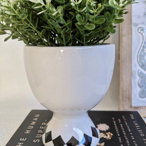 Winking Bluching Girl Ceramic Pot Planter