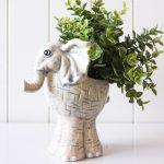 Abby Elephant Ceramic Pot Planter