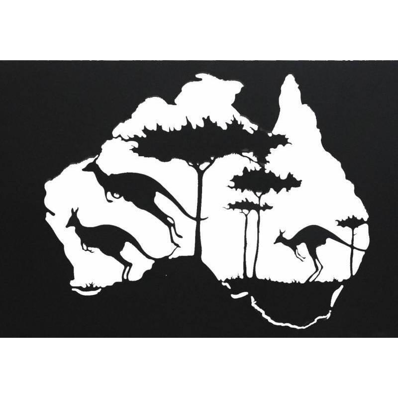 Australian Kangaroo Metal Wall Art
