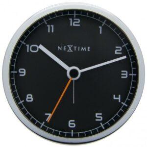 Black Metal Leni Silent Table Alarm Clock
