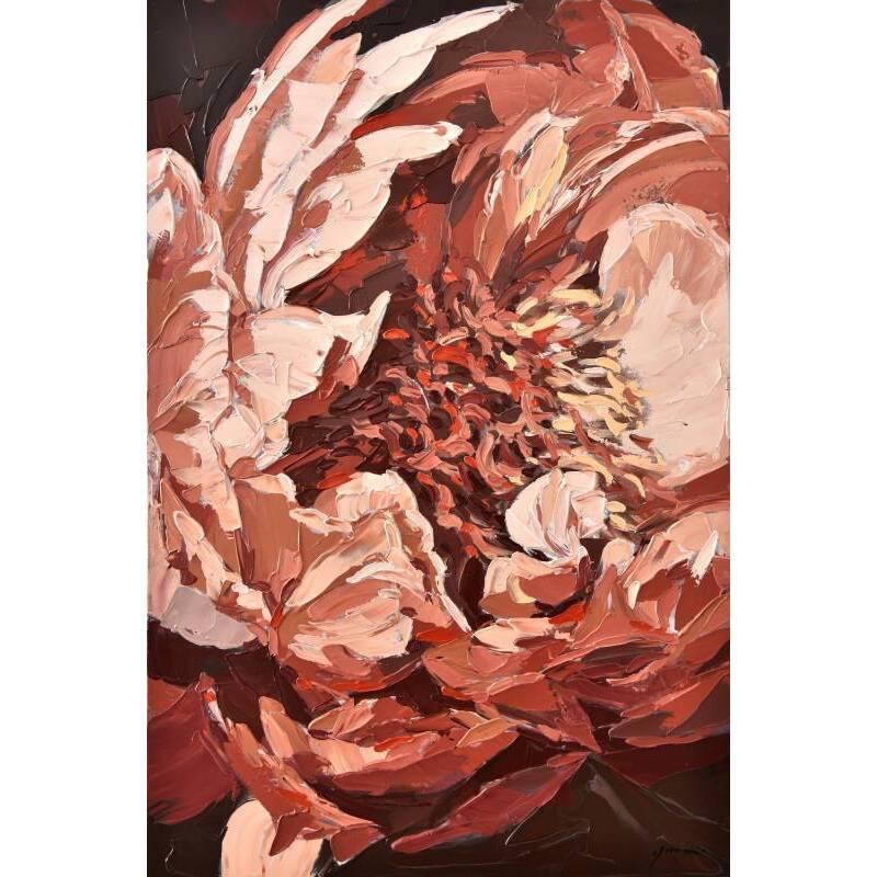 Blissful Flower Framed Canvas Wall Art