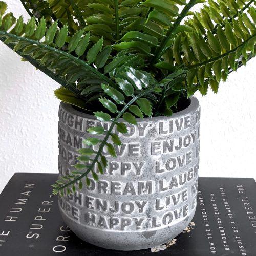 Enjoy Relax Live Grey Cement Pot Planter