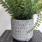 Enjoy Relax Live Grey Cement Pot Planter