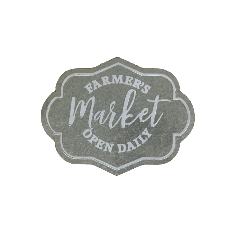 Farmers Market Metal Wall Art Decor Sign