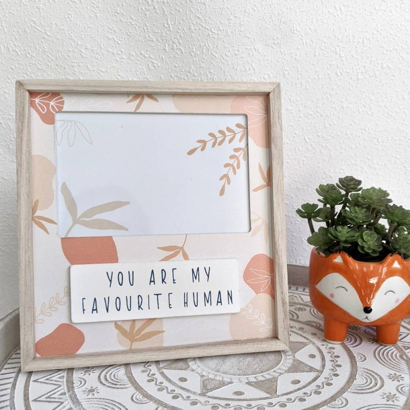 Favourite Human Leaves Peach Photo Picture Frame