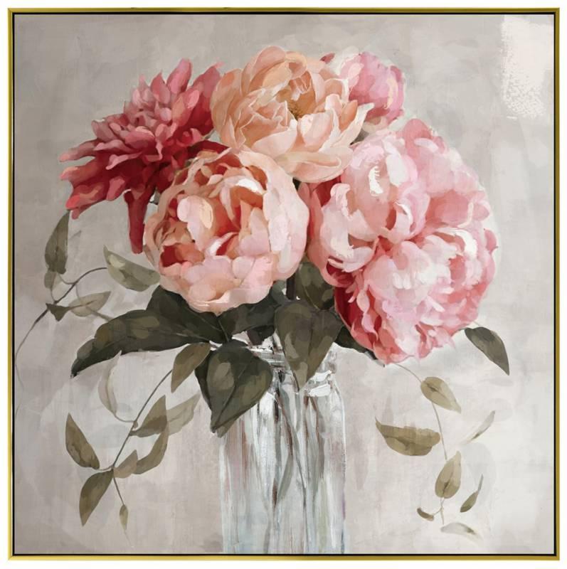 Flower Vase Framed Canvas Wall Art