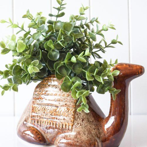 Glazed Ceramic Camel Pot Planter