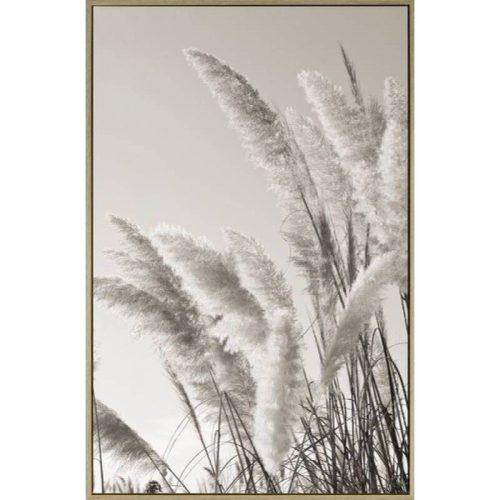 Grove Pampass Grass Framed Canvas Print Wall Art