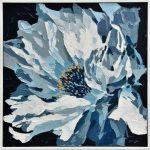 Hamptons Blue Flower Framed Canvas Wall Art