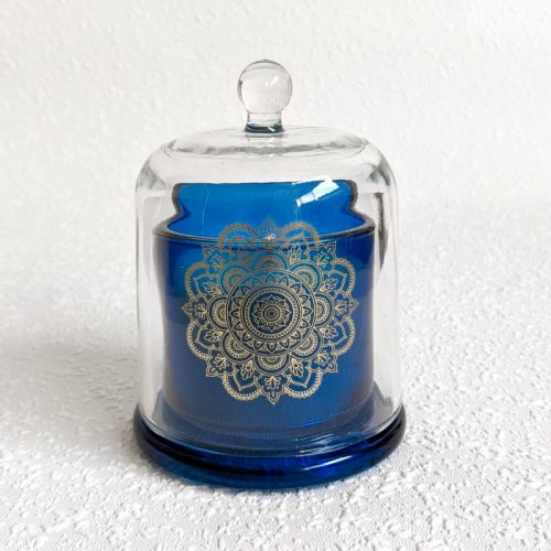Hamptons Mandala Blue Glass Scented Candle