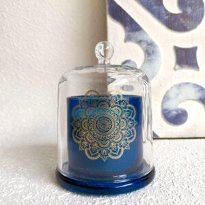 Hamptons Mandala Blue Glass Scented Candle