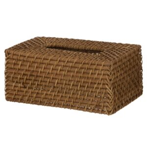 Hamptons Natural Rattan Tissue Box Cover