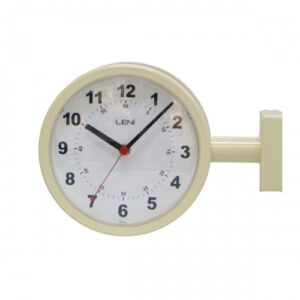 Ivory Leni Metal Silent Table Desk Clock