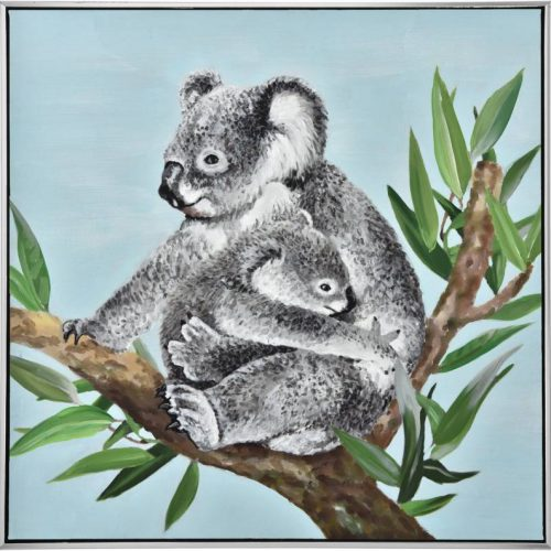 Koala Baby Love Framed Canvas Wall Art