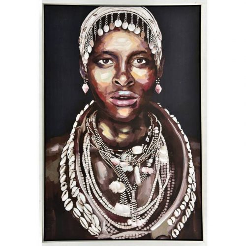 Koko Tribal Women Framed Canvas Wall Art