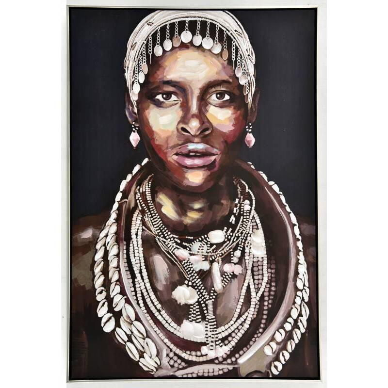 Koko Tribal Women Framed Canvas Wall Art