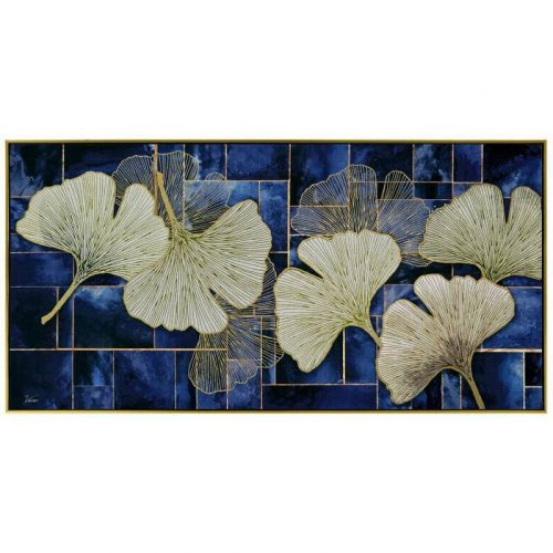 Lotus Leaves Framed Canvas Wall Art