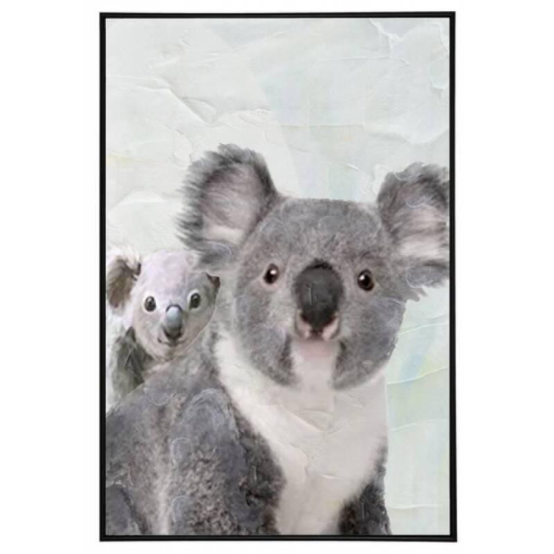 Mother Baby Koala Framed Canvas Wall Art