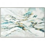Multi Abstract Framed Canvas Wall Art