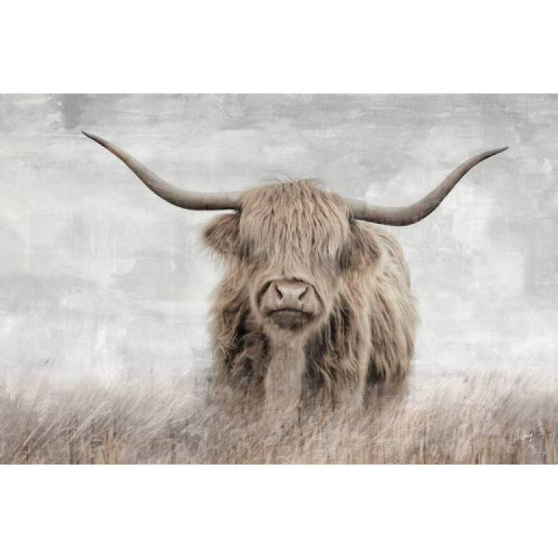 Scottish Highland Cow Framed Canvas Wall Art